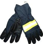 Перчатки пятипалые мод 055, ткань арт 77-БА-032АП, синяя+Боролон+Огнетекс