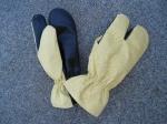 перчатки трехпалые мод. 050 (тк. арт. 5673-30п-30п-РГ+РЧ)